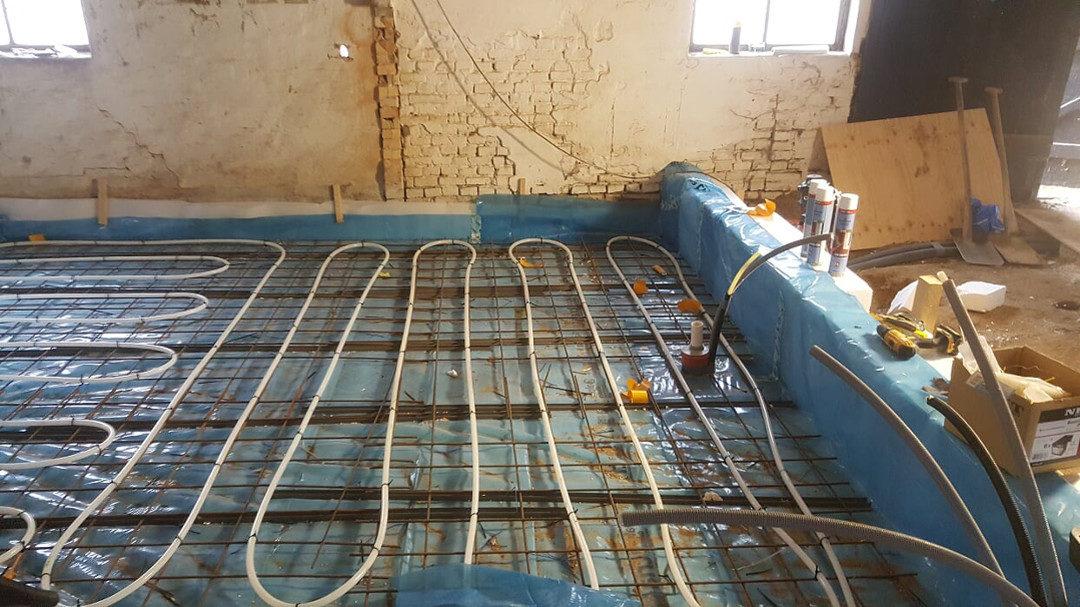 Wylewka podłoża, montaż ogrzewania podłogowego